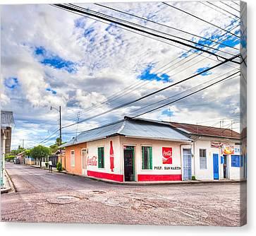 Little Pulperia On The Corner - Costa Rica Canvas Print by Mark E Tisdale