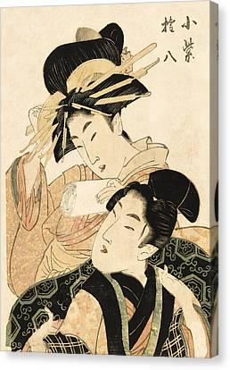 Frailty Canvas Print - Little Purple And The Samurai C. 1806 by Daniel Hagerman