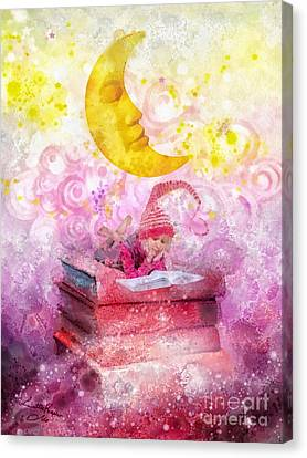 Little Reader Canvas Print by Mo T
