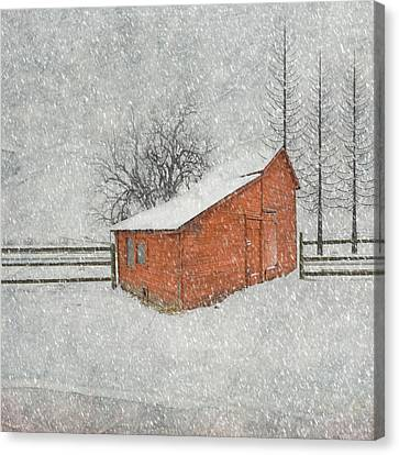 Barn Storm Canvas Print - Little Red Barn by Juli Scalzi