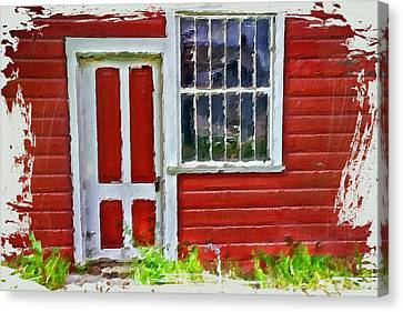 Little Red Cottage Canvas Print by Bonnie Bruno