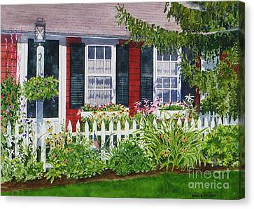 Little Red Cottage Canvas Print by Karol Wyckoff