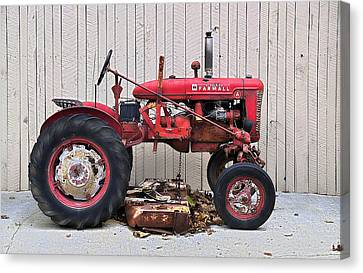 Canvas Print featuring the photograph Little Red Farmall by Craig T Burgwardt