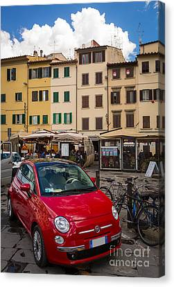 Little Red Fiat Canvas Print by Inge Johnsson