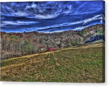 Little Red Hay Loft Canvas Print by Craig T Burgwardt