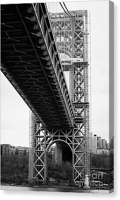 Little Red Lighthouse Beneath The George Washington Bridge Hudson River New York City Canvas Print