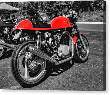 Little Red Racer 001 Canvas Print by Lance Vaughn
