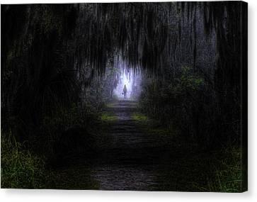 Little Red Riding Hood Dark Passage Canvas Print by Jay Droggitis