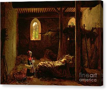 Little Red Riding Hood Canvas Print by Fleury Francois Richard