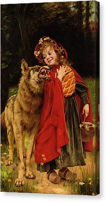 Little Red Riding Hood Canvas Print by Gabriel Joseph Marie Augustin Ferrier