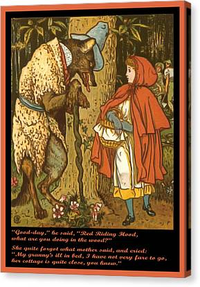 Little Red Riding Hood  Canvas Print by Walter Crane