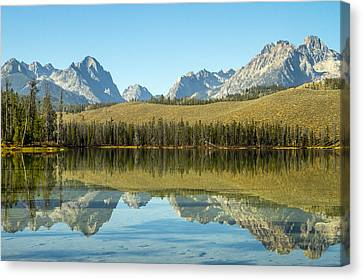 Little Redfish Lake Canvas Print by For Ninety One Days