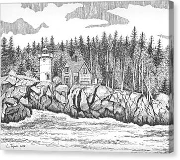 Little River Lighthouse Canvas Print by Lawrence Tripoli
