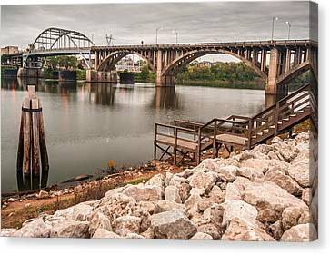 Little Rock Arkansas River Bridge Canvas Print by Gregory Ballos