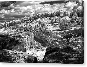 Little Roundtop Overlooking Devils Den Canvas Print by Paul W Faust -  Impressions of Light