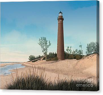 Little Sable Point Lighthouse Canvas Print by Darren Kopecky