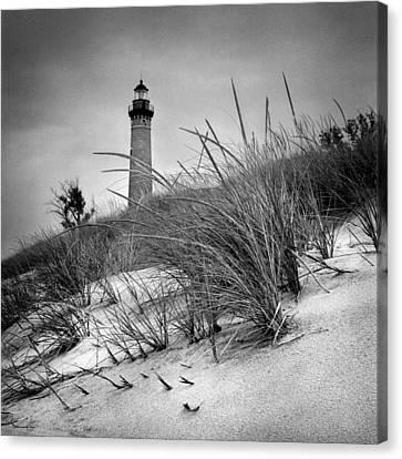 Little Sable Point Lighthouse II Canvas Print by Jeff Burton