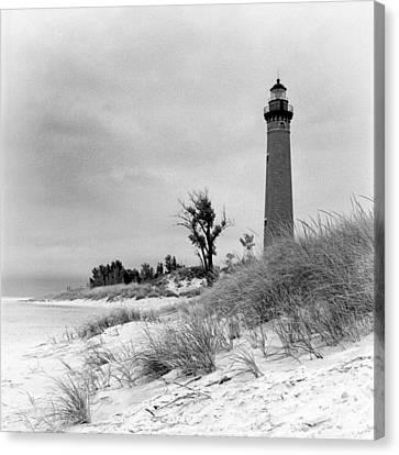 Little Sable Point Lighthouse Canvas Print by Jeff Burton