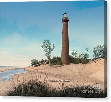 Little Sable Point Lighthouse Titled Canvas Print by Darren Kopecky