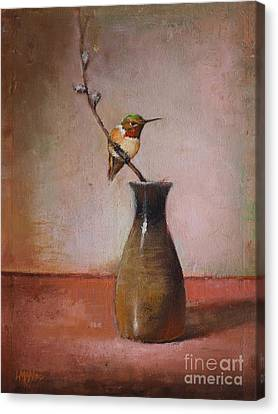 Little Sake Bottle Canvas Print by Lori  McNee