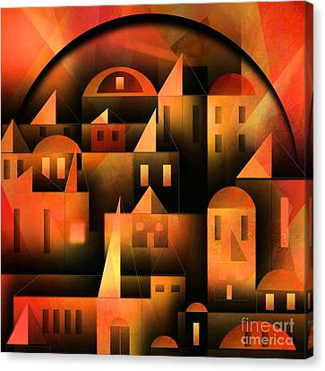Little Shining City Canvas Print by Franziskus Pfleghart