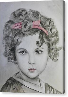 Little Shirley Temple Canvas Print by Kelly Mills
