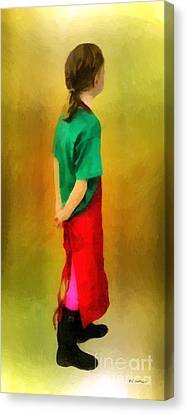 Little Shopgirl Canvas Print