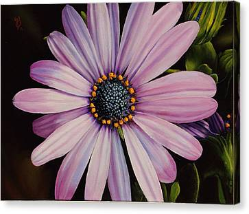 Canvas Print featuring the painting Little Showoff by Glenn Beasley