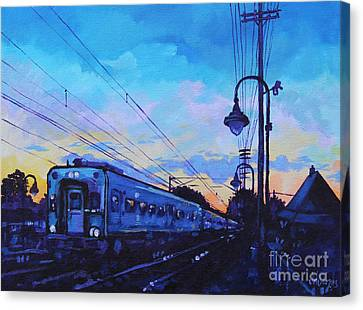 Little Silver Sunset Canvas Print