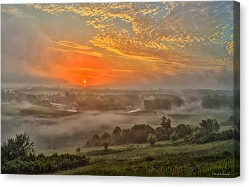 Little Sioux River Valley Sunrise Canvas Print by Bruce Morrison