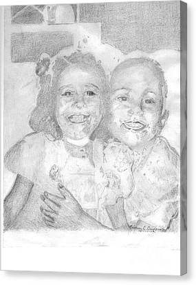 Little Sister Canvas Print by Rebecca Christine Cardenas