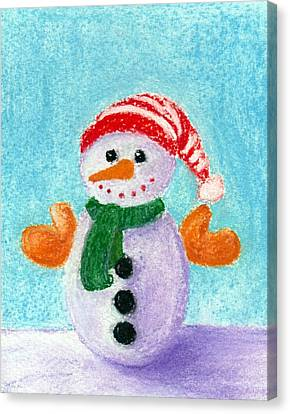 Little Snowman Canvas Print by Anastasiya Malakhova