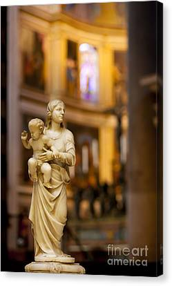 Child Jesus Canvas Print - Little Statue by Brian Jannsen