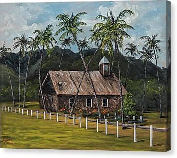 Little Stone Church Canvas Print by Darice Machel McGuire