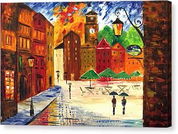 Little Town Canvas Print by Mariana Stauffer