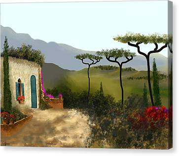 Little Villa Of Tuscany Canvas Print