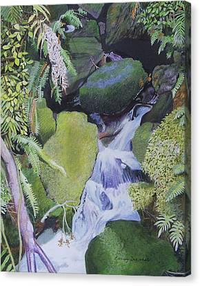 Small Waterfall Canvas Print by Constance DRESCHER