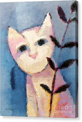 Little White Cat Canvas Print by Lutz Baar