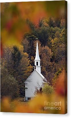Little White Church - D007297 Canvas Print by Daniel Dempster