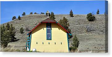 Little Yellow Church Canvas Print by Heather L Wright