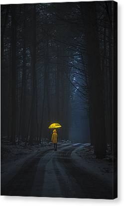 Little Yellow Riding Hood Canvas Print