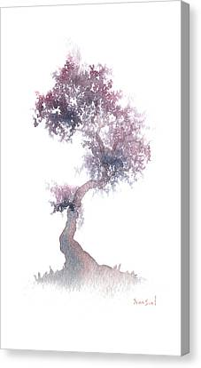 Canvas Print featuring the painting Little Zen Tree 1508 by Sean Seal