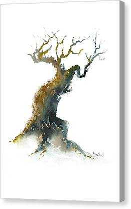 Canvas Print featuring the painting Little Zen Tree 1582 by Sean Seal