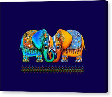 Littlest Elephant Love Links Canvas Print by Karin Taylor