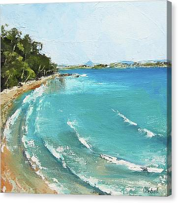 Canvas Print featuring the painting Litttle Cove Beach Noosa Heads Queensland Australia by Chris Hobel