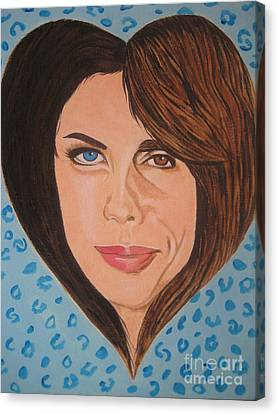 Liv And Steven Tyler Painting Canvas Print by Jeepee Aero