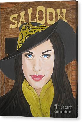 Canvas Print featuring the painting Liv Tyler Painting by Jeepee Aero