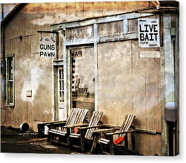 Live Bait Canvas Print by Marty Koch