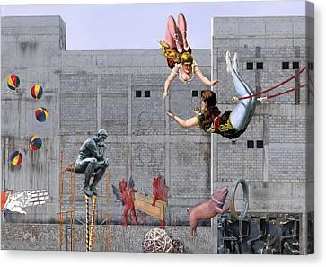 Live Circus At Heaven's Door Canvas Print by Maria Jesus Hernandez