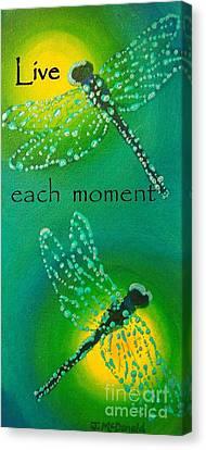Live Each Moment Canvas Print